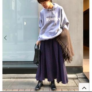 ジャーナルスタンダード(JOURNAL STANDARD)の2019.A/Wジャーナルスタンダードluxe購入ツイルドットスカート未使用品(ロングスカート)