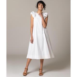 ダブルスタンダードクロージング(DOUBLE STANDARD CLOTHING)の24日まで出品 新品タグ付き ダブルスタンダードクロージング 袖フリルワンピース(ロングワンピース/マキシワンピース)