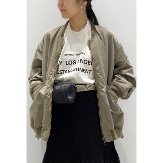 L'Appartement DEUXIEME CLASSE(アパルトモンドゥーズィエムクラス)の新品☆L'Appartment REMI RELIEF/レミレリーフ MA-1 レディースのジャケット/アウター(ブルゾン)の商品写真