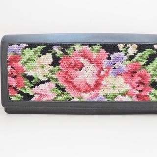 フェイラー(FEILER)のフェイラー 長財布 - 黒×ピンク×マルチ(財布)