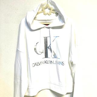 カルバンクライン(Calvin Klein)のカルバン クライン CK 新品 パーカー レディース フーディー スウェット長袖(パーカー)