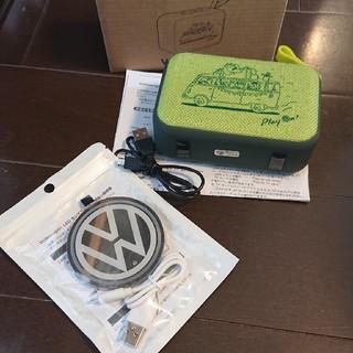フォルクスワーゲン(Volkswagen)のVolkswagen ワイヤレススピーカー LEDコースターセット(ノベルティグッズ)