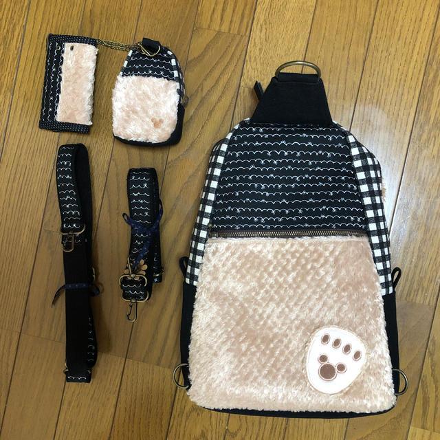 ダッフィー(ダッフィー)の1点もの⭐︎ダッフィー⭐︎リュック&ワンショルダー⭐︎ミニバック⭐︎キーケース ハンドメイドのファッション小物(バッグ)の商品写真
