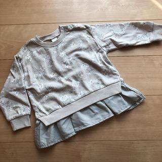 フタフタ(futafuta)の新品未使用 テータテート  花柄 裏起毛 トップス トレーナー 95(Tシャツ/カットソー)