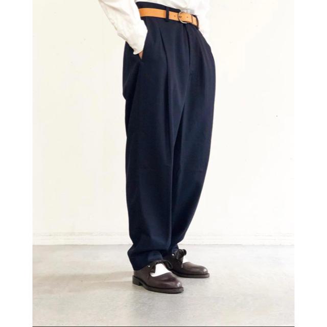 SUNSEA(サンシー)のひび様専用 URU 19aw/COTTON RAYON セットアップ/Navy メンズのスーツ(セットアップ)の商品写真