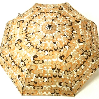 コーチ(COACH)のコーチ 折りたたみ傘美品  - ポリエステル(傘)