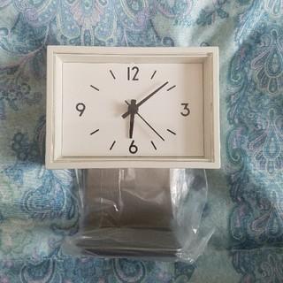 ムジルシリョウヒン(MUJI (無印良品))の無印良品 駅の時計ミニ (スタンド付)(置時計)