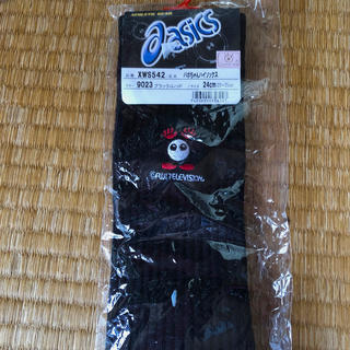 asics -  asics  バボちゃんハイソックス黒