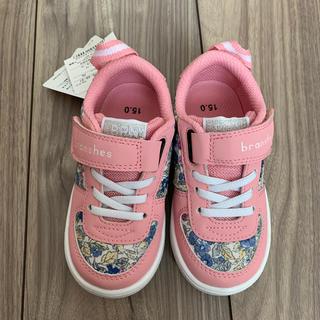 ブランシェス(Branshes)のブランシェス✖️イフミー 花柄スニーカー 15  ピンク 女の子 シューズ(スニーカー)