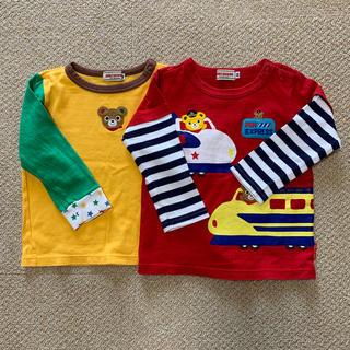 mikihouse - ミキハウス 長袖Tシャツ2枚セット 80サイズ