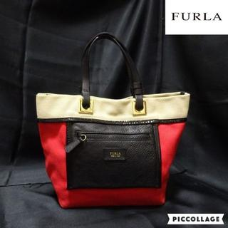 フルラ(Furla)のFURLA:フルラ トートバッグ レザー×キャンパス ハンドバッグ(トートバッグ)