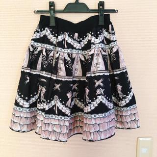 ミルク(MILK)のMILK オディール スカート 黒(ひざ丈スカート)