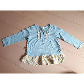 サンカンシオン(3can4on)の3can4on 100 長袖Tシャツ チュニック サンカンシオン ナチュラル (Tシャツ/カットソー)