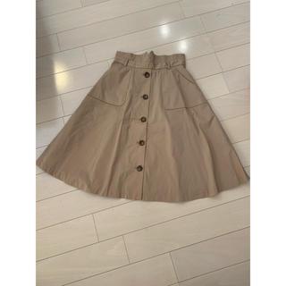 プロポーションボディドレッシング(PROPORTION BODY DRESSING)のオフィス用 ベージュひざ丈スカート(ひざ丈スカート)