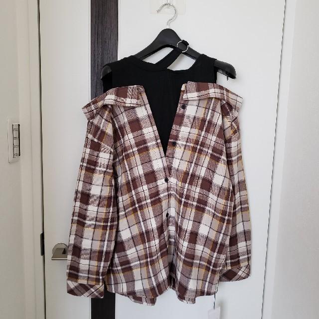 CECIL McBEE(セシルマクビー)のCECIL McBEE 秋物ドッキングチェックネルシャツ レディースのトップス(シャツ/ブラウス(長袖/七分))の商品写真