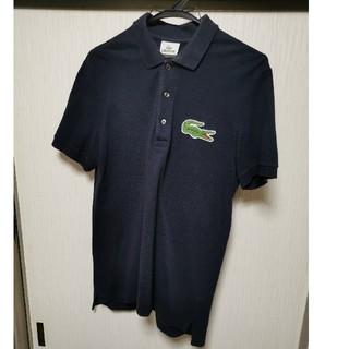 ラコステ(LACOSTE)のラコステ LACOSTE メンズ  M ポロシャツ ネイビー ビッグロゴ(ポロシャツ)