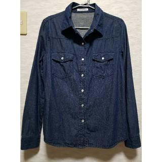 神戸レタス - 【神戸レタス】《未使用に近い》デニム風 長袖シャツ 綿100%