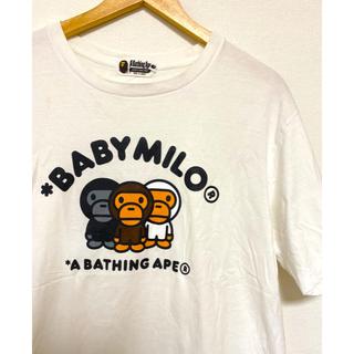 A BATHING APE - babymilo 3匹猿 レアT   サイズL