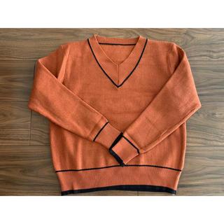 新品タグなし★オレンジ色ニット セーター(フリーサイズ)(ニット/セーター)