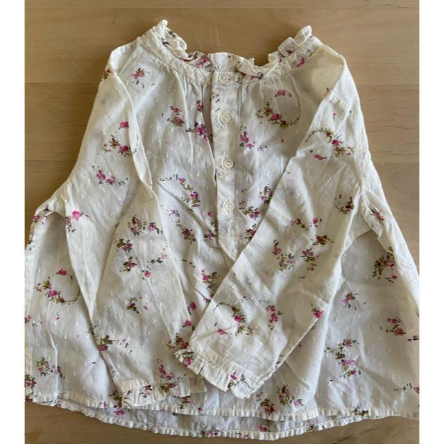 Bonpoint(ボンポワン)のフラワープリント ブラウス キッズ/ベビー/マタニティのキッズ服女の子用(90cm~)(ブラウス)の商品写真
