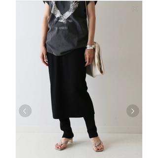 フレームワーク(FRAMeWORK)のフレームワーク C/PE レギンス付きスカート 38  新品未使用タグ付き(ロングスカート)