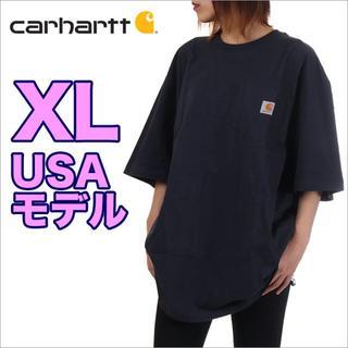 カーハート(carhartt)の【新品】カーハート ポケット Tシャツ XL ネイビー USAモデル(Tシャツ(半袖/袖なし))