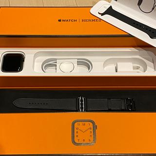 エルメス(Hermes)のApple Watch5 HERMES 44mm  限定ブラック(腕時計(デジタル))
