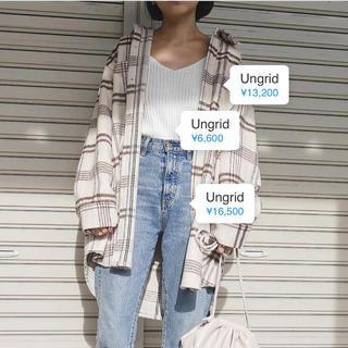 Ungrid - ungrid シャギーチェックルーズシャツ