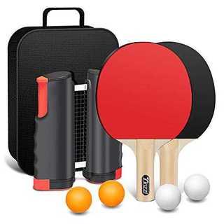 レッドTinzzi 卓球セット 卓球 ラケット 卓球 ネット 国際規格(卓球 ラ(卓球)