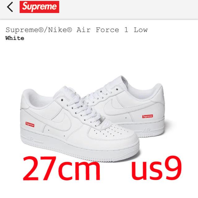 Supreme(シュプリーム)のSupreme®/Nike® Air Force 1 27cm US9 メンズの靴/シューズ(スニーカー)の商品写真