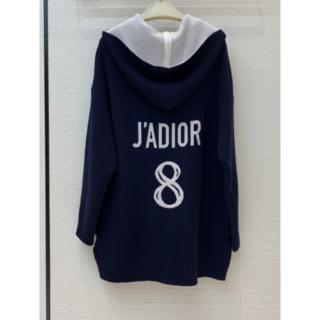 ディオール(Dior)のDIOR J'ADIOR 8 ジャカード カシミヤ パーカー(ニット/セーター)