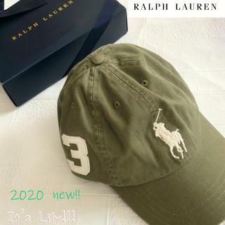 ラルフローレン(Ralph Lauren)の8-20t ラルフローレン人気のオリーブ ビックポニーキャップ(キャップ)