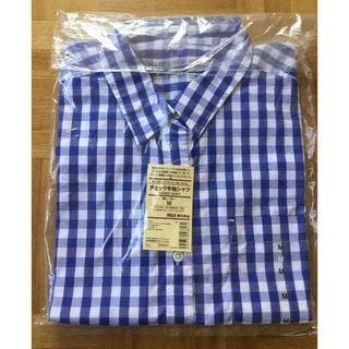 ムジルシリョウヒン(MUJI (無印良品))の無印良品 チェック半袖シャツ(M)(シャツ/ブラウス(半袖/袖なし))