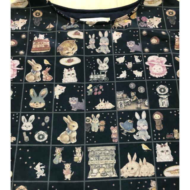 franche lippee(フランシュリッペ)のオリプリスカーフTシャツ デコレーションキューブ フランシュリッペ レディースのトップス(Tシャツ(半袖/袖なし))の商品写真