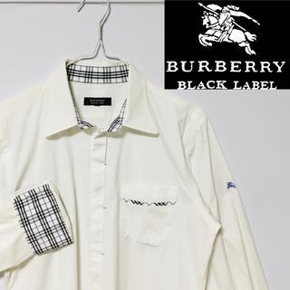 バーバリーブラックレーベル(BURBERRY BLACK LABEL)の希少!バーバリーブラックレーベル  ホースマークノバチェックストレッチシャツ (シャツ)