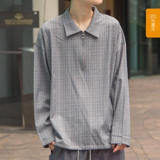 ハレ(HARE)のBASQUE magenta ハーフジップシャツ(シャツ)