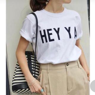 イエナスローブ(IENA SLOBE)のかっちゃん様 SLOBE IENA Champion コラボTシャツ 白 S(Tシャツ(半袖/袖なし))
