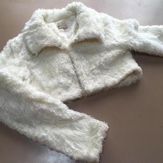 リズリサ(LIZ LISA)のLiz Lisaリズリサ ファージャケット 白 コート(毛皮/ファーコート)