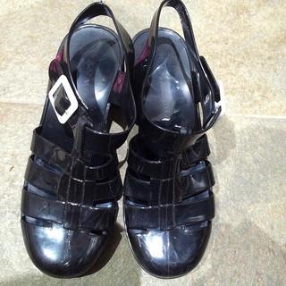 WEGO(ウィゴー)の☆シリコンサンダル☆WEGO☆海 黒 靴 レディースの