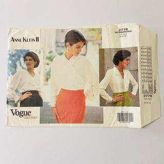 アンクライン(ANNE KLEIN)のVogue career 2779 ANNE KLEIN Ⅱ ブラウス カット済(型紙/パターン)