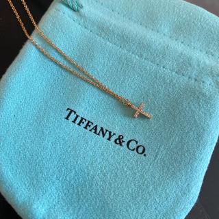 Tiffany & Co. - ティファニー メトロ クロス ダイヤネックレス
