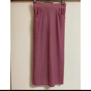 パメオポーズ(PAMEO POSE)の新品未使用 タグ付き! PAMEO POSE ラメミディアムスカート(ひざ丈スカート)