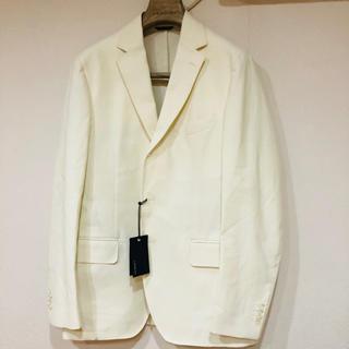 バーニーズニューヨーク(BARNEYS NEW YORK)の新品未使用 LARDINIラルディーニジャケット 50 ホワイト(テーラードジャケット)
