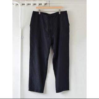 コモリ(COMOLI)のCOMOLI ウール シルク  ドローストリング パンツ チャコール 1 新品(スラックス)