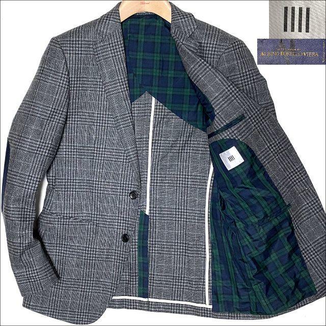 THE SUIT COMPANY(スーツカンパニー)のJ5119 美品 スーツセレクト グレンチェック ツイードジャケット グレーY6 メンズのジャケット/アウター(テーラードジャケット)の商品写真