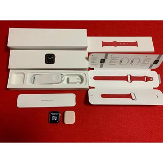 アップルウォッチ(Apple Watch)の【美品】アップルウォッチ Apple Watch シリーズ5  GPSモデル(スマートフォン本体)
