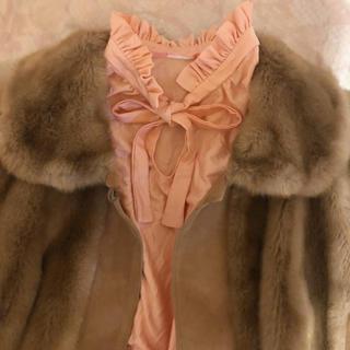 vintage❤︎frill collar ribbon tie tops