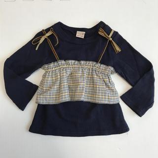 プティマイン(petit main)のpetit main  重ね着トップス 90(Tシャツ/カットソー)