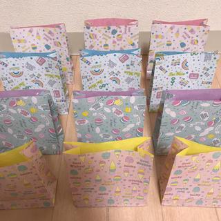 ★ハンドメイド★ お菓子柄  紙袋  12枚  ④(カード/レター/ラッピング)