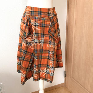 Vivienne Westwood - 美品 ヴィヴィアンウエストウッド ロゴ入りチェックスカート